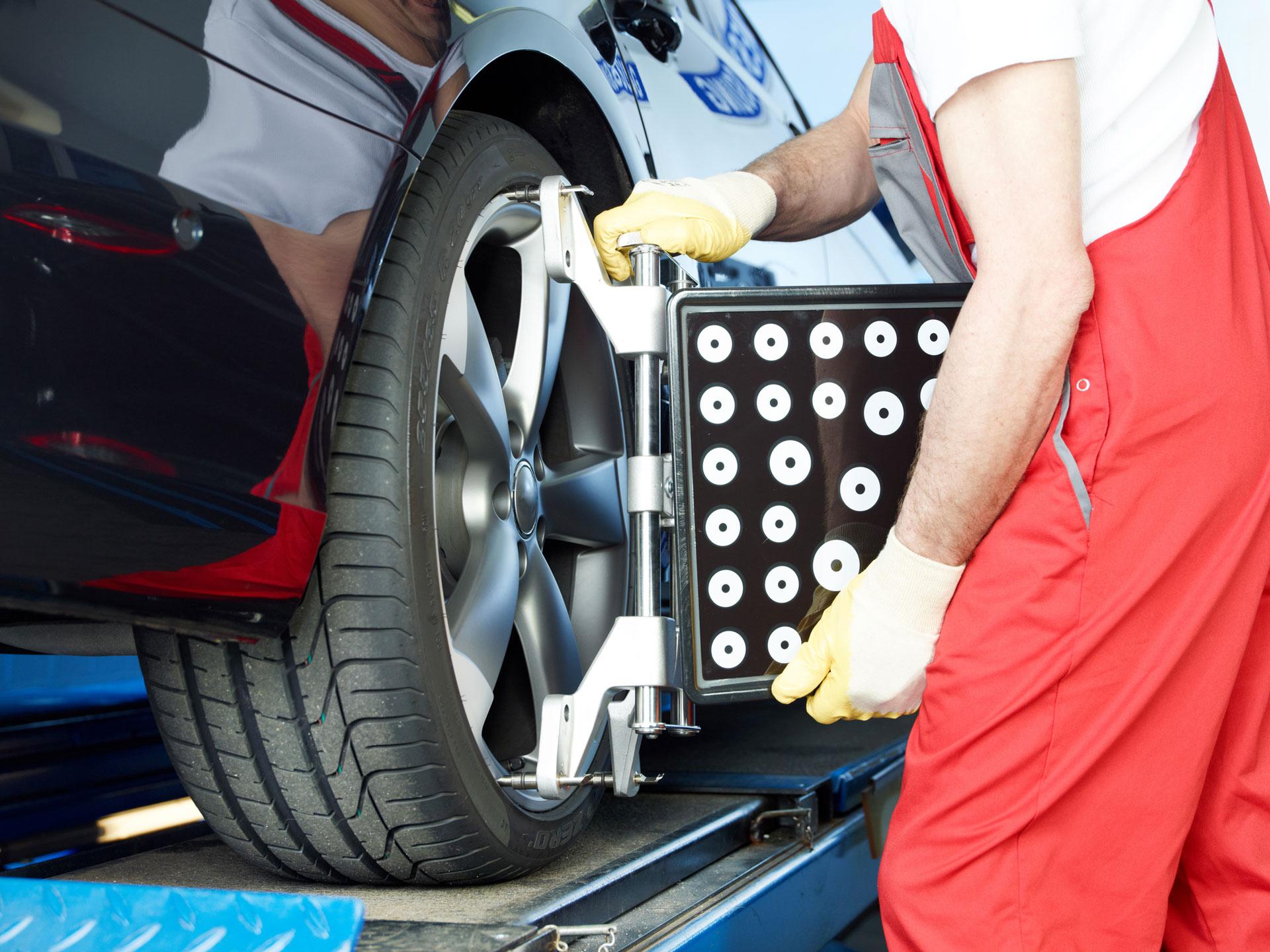 Slider-Hintergrund Reifenmontage